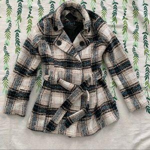 Plaid Pea Coat